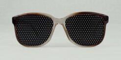 gafas reticulares hexagonales bicolor